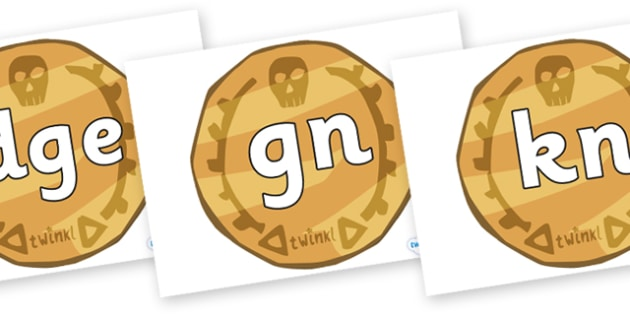 Silent Letters on Pirate Coins - Silent Letters, silent letter, letter blend, consonant, consonants, digraph, trigraph, A-Z letters, literacy, alphabet, letters, alternative sounds