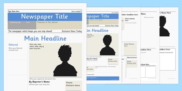 Newspaper Editable Template - newspaper, editable, template