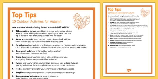 10 Outdoor Activity Ideas for Autumn Top Tips