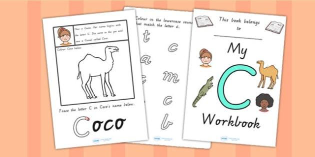 My Workbook C uppercase - letter formation, fine motor skills