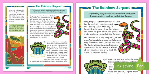 The Rainbow Serpent Story-Australia
