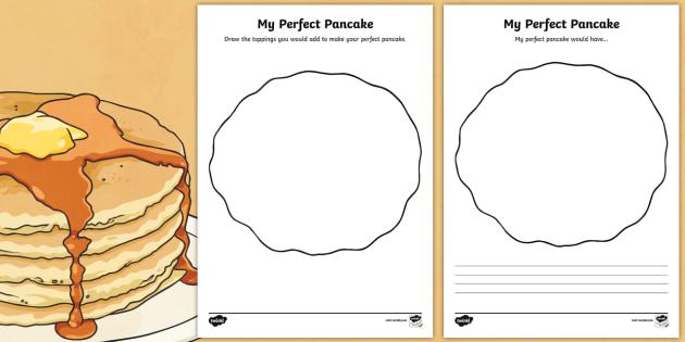 My Perfect Pancake Activity Sheet Pack - Pancake Day, pancake, day, shrove, tuesday, lent, toppings, food, eat, worksheet
