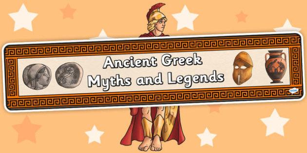 Ancient Greek Myths and Legends Display Banner - greece, banner