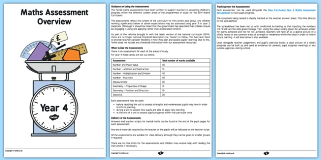 Year 4 Maths Assessment Overview - maths, numeracy, assessments