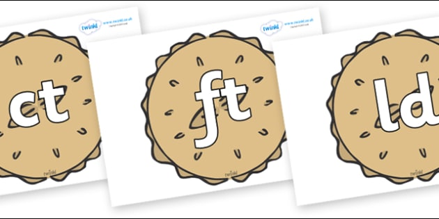 Final Letter Blends on Pies - Final Letters, final letter, letter blend, letter blends, consonant, consonants, digraph, trigraph, literacy, alphabet, letters, foundation stage literacy