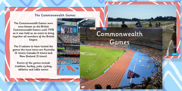 Commonwealth Games Information PowerPoint - commonwealth, games