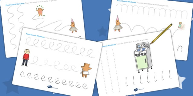 Pencil Control Sheets to Support Teaching on Biscuit Bear - pencil control, biscuit bear