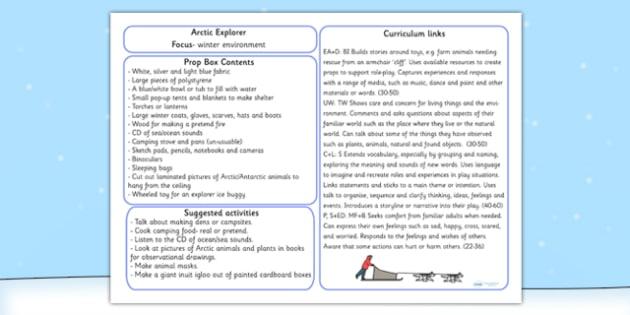 Arctic Explorer Prop Box Plan - role play, arctic roleplay, props