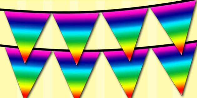 Rainbow Bunting - rainbow, bunting, display, display bunting
