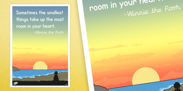 Sometimes Small Things Take Most Room in Heart Read Quote Poster