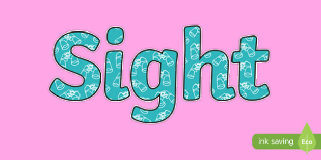 Sight Display Lettering