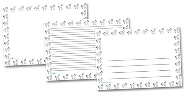 Baby Horse Landscape Page Borders- Landscape Page Borders - Page border, border, writing template, writing aid, writing frame, a4 border, template, templates, landscape