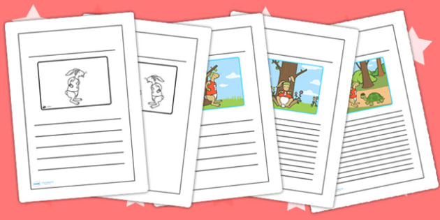 The Tortoise and The Hare Story Writing Frames - writing template