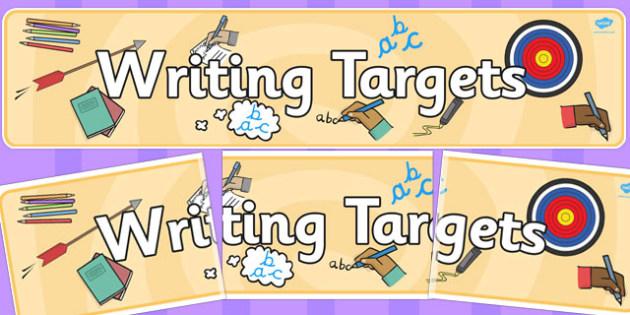Writing Targets Display Banner - writing, targets, display banner