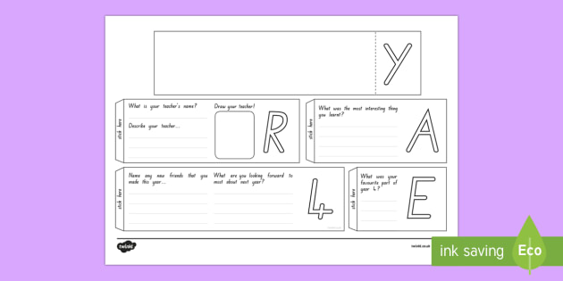 Year 4 Write Up Booklet