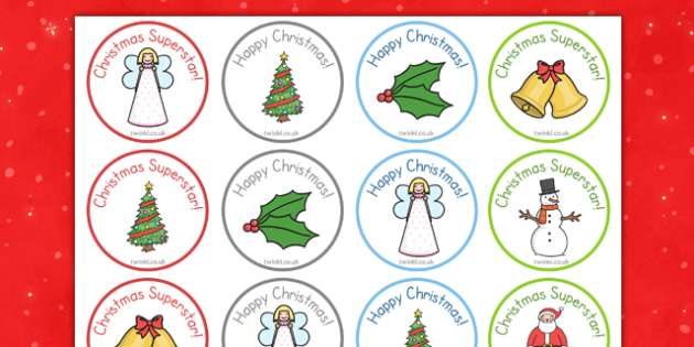 Christmas Reward Stickers - christmas, reward stickers, reward, stickers