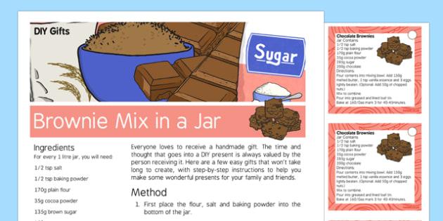 DIY Gifts Brownie Mix in a Jar Recipe
