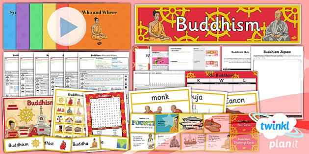 PlanIt - RE Year 4 - Buddhism Unit Pack - buddhist, Buddha, India, monk, meditation