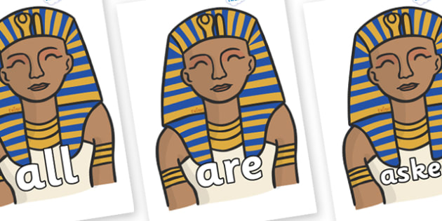 Tricky Words on Pharaoh - Tricky words, DfES Letters and Sounds, Letters and sounds, display, words