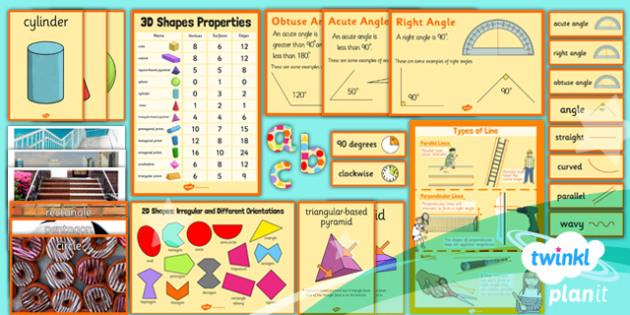 PlanIt Y3 Properties of Shape Display Pack - PlanIt, Properties of Shapes