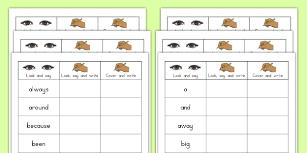 Dolch Writing Practice Worksheets - dolch, usa, america, practice, writing, worksheets