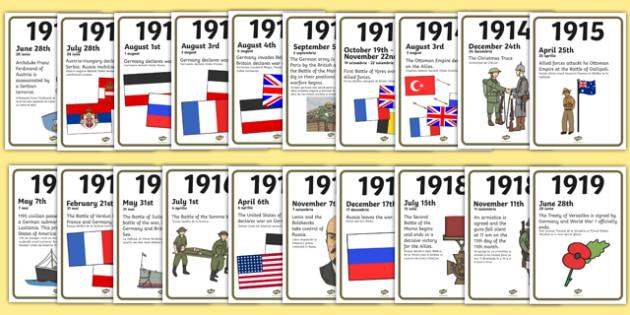 World War One A4 Display Timeline Romanian Translation - romanian, world war one, a4, display