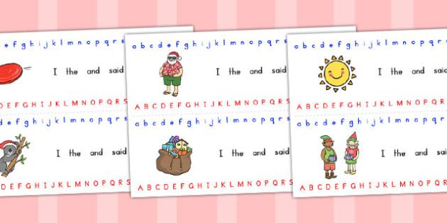 Christmas Alphabet Strips - australia, christmas, alphabet, strip