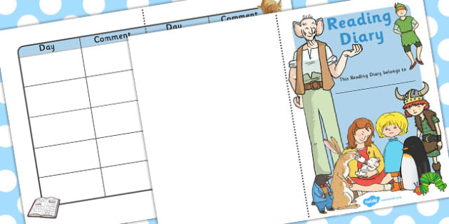 School Role Play Reading Diary - School Role Play Pack, school role play, register, teacher, stickers, certificates, reading diary, role play, display, poster