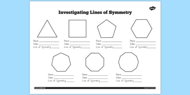 Investigating Lines of Symmetry Worksheet - australia, symmetry