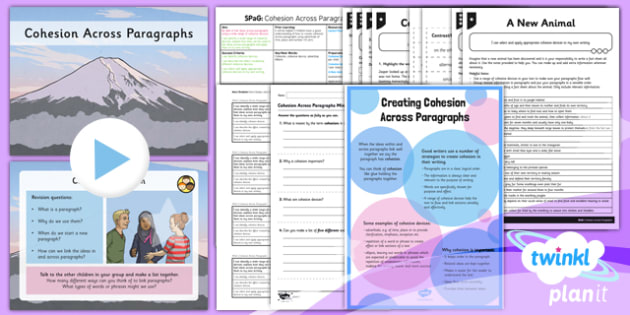 PlanIt Y6 SPaG Lesson Pack: Cohesion across Paragraphs - GPS, cohesive devices, adverbials, ellipsis