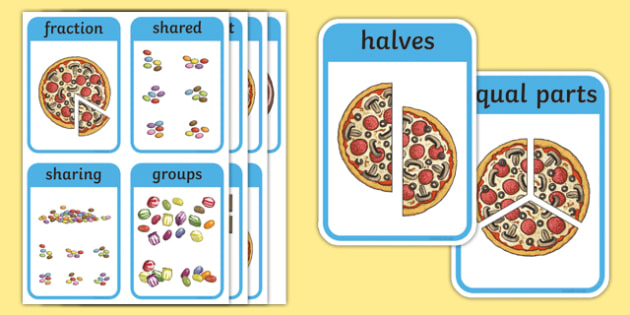 CfE First Level Numeracy and Mathematics Fractions, Decimal Fractions and Percentages Keyword Flashcards-Scottish