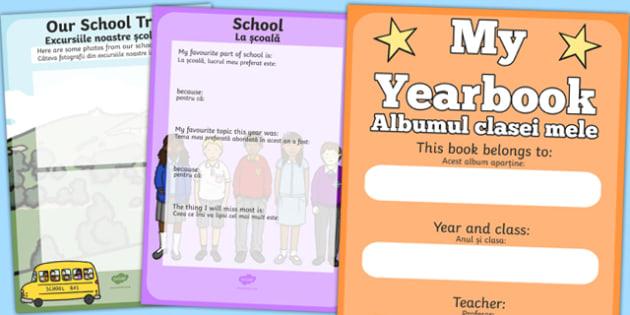 End of Year Scrapbook Romanian Translation - end of year, scrapbook, scrapbooking, photo, photos, memories, year, final, creative, creativity, scrap book, leaving, school