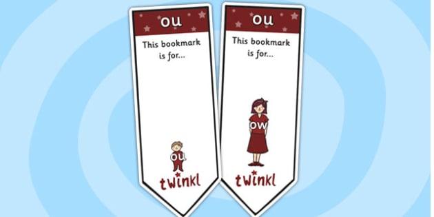 ou Sound Family Editable Bookmarks - ou sound family, editable bookmarks, bookmarks, editable, behaviour management, classroom management, rewards, awards