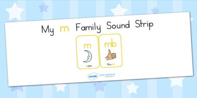My M Family Sound Strip - sound family, visual aid, literacy