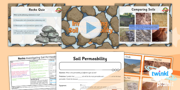 PlanIt - Science Year 3 - Rocks Lesson 6: Investigating Soil Permeability Lesson Pack