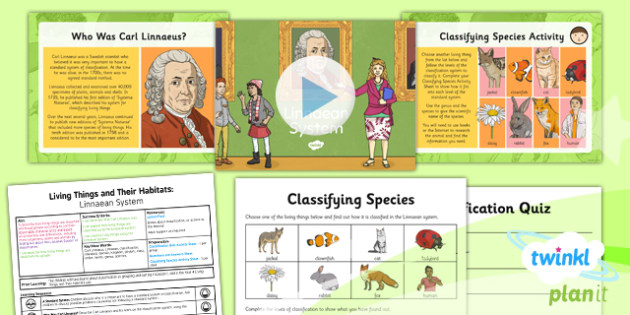 PlanIt - Science Year 6 - Living Things and Their Habitats Lesson 2: Linnaean System Lesson Pack - Linnaeus, classify, classification, species
