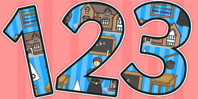 Victorian School Themed A4 Display Numbers - victorian school