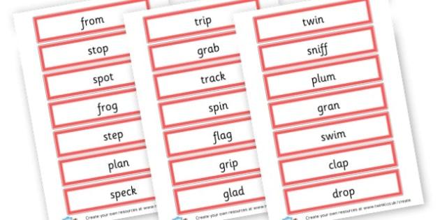 CCVC Word Cards - Words & Vocab Primary Resources, literacy, keywords, cvc, phonemes