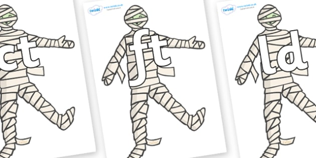Final Letter Blends on Mummy (Plain) - Final Letters, final letter, letter blend, letter blends, consonant, consonants, digraph, trigraph, literacy, alphabet, letters, foundation stage literacy