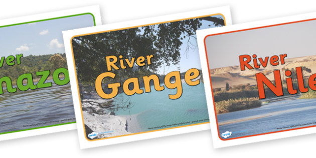 Rivers Group Signs - world rivers, river, world, geography, biggest rivers, big, group signs, group labels, group table signs, table sign, teaching groups, class group, class groups, table label, The River Thames, The Amazon, The River Nile, The Miss
