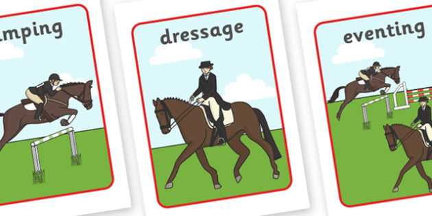 The Olympics Equestrian Display Posters - Equestrian, Olympics, Olympic Games, sports, Olympic, London, 2012, display, banner, poster, sign, activity, Olympic torch, events, flag, countries, medal, Olympic Rings, mascots, flame, compete