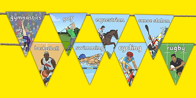 The Olympics Sports Events Display Bunting - rio 2016, rio olympics, 2016 olympics, sporting events, display, bunting