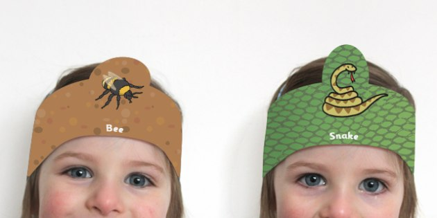 Animals and Insects Role Play Headbands - animal, insect, props