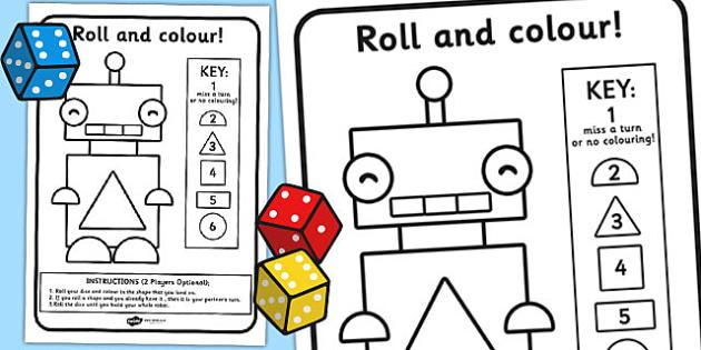 Shape Rolling Worksheet - shape, shape rolling, worksheet, shapes