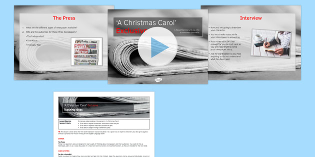 A Christmas Carol Lesson Pack 9: Exclusive (post reading) - a christmas carol, exclusive, lesson, pack