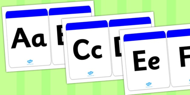 Large Alphabet Cards - large, alphabet, cards, display, activity