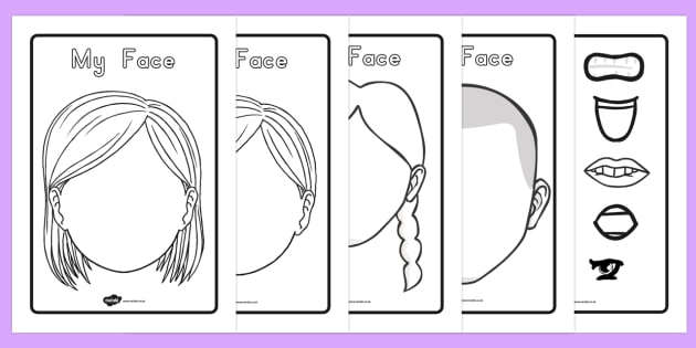 Blank Face Templates with Face Features - australia, blank, face, templates