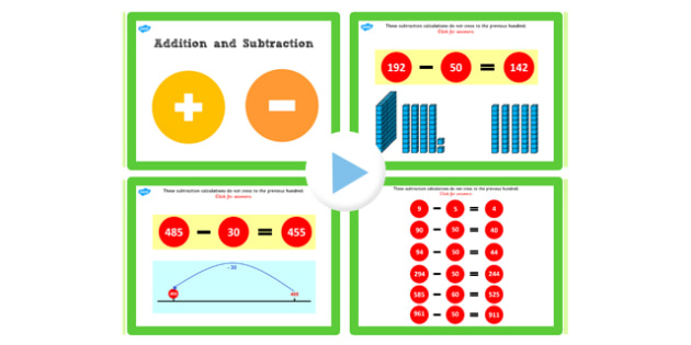 Y3 Addition Subtract Lesson 2c Subtracting Tens Not Crossing 100