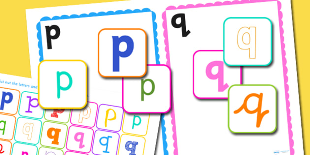 p and q Confusing Letter Sorting Activity - letters, sorting