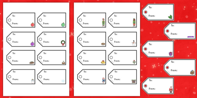 Gift Tags for Christmas - christmas, gift tags, gifts, crafts